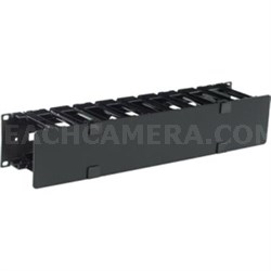 """Horizontal Cable Manager 2U x 4"""" Deep Single-Sided with Cover - AR8600A"""
