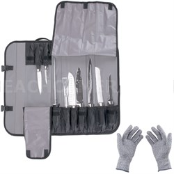 Genesis 10-Piece Forged Knife Set with Case & Protective Gloves