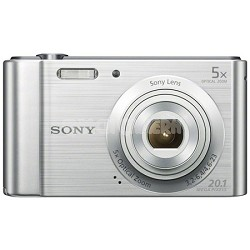 DSC-W800 Point and Shoot Digital Still Camera - Silver
