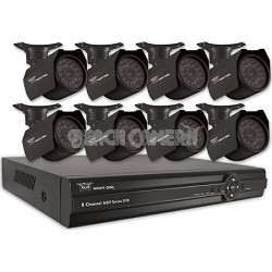 8-Channel Security System with 500GB HD and 8 Indoor/Outdoor Cameras & Pro App