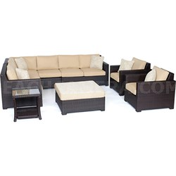 Metropolitan 8-Piece Lounge Set in Sahara Sand - METRO8PC-B-TAN
