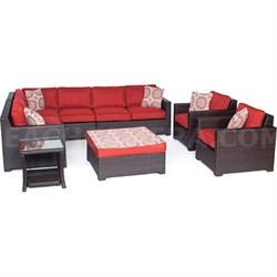 Metropolitan 8-Piece Lounge Set in Autumn Berry - METRO8PC-B-BRY