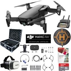 Mavic Air Onyx Black Drone Pro Photo Edit Bundle Case VR Goggle Landing Pad 32GB