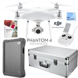 Phantom 4 Advanced Quadcopter Drone w/ Custom Case 2TB Fly Drive Accessories Kit
