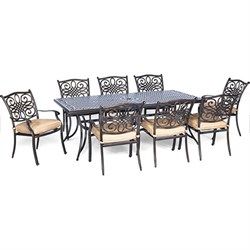 Traditions 9-Piece Dinning Set with Stationary Chairs- TRADDN9PC