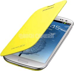 Galaxy S III Protective Flip Cover - Yellow