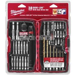 38 Piece Universal QUIK-LOK Drill and Drive Set  48-32-1500