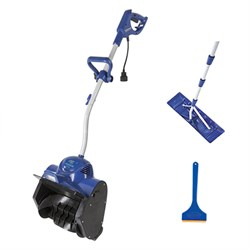 Electric Snow Shovel 11-in w/ Light +Bonus Ice Scraper +Roof Rake Bundle