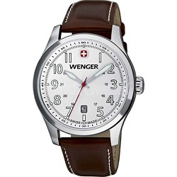 Men's Terragraph Watch - White Dial/Brown Leather Strap