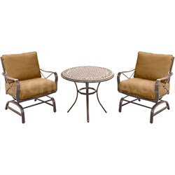 Summer Nights 3-Piece Chat Set w/2 Cushioned Rockers & Table - SUMRNGTDN3PCCSTAL