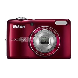 COOLPIX L26 16.1 MP 3.0-inch LCD Digital Camera - Red