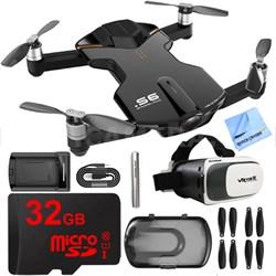 S6 Quadcopter Black Mini Pocket Drone 4K Camera 32GB VR Kit