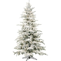 7.5 Ft. Flocked Mountain Pine with Clear LED String Lighting - FFMP075-5SN