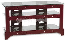 TL-3V Audio/Video Television Stand (Red Mahogany)