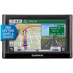"65LMT 6"" GPS w/ Spoken Turn-By-Turn Direction & Lifetime Map & Traffic updates"