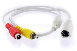 Electronics DIN2RCA 4 PIN DIN to RCA Converter (ACC-DIN2RCA)