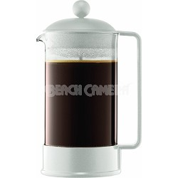 Brazil 8-Cup French Press Coffee Maker, 34-Ounce - White