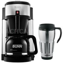 NHS 10-Cup Generations Home Coffee Brewer w/ 24oz. Big Joe Thermal Mug