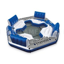 4 Person Relaxation Station Water Lounge River Tube Raft - 56282EP