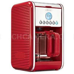 Linea 12-Cup Programmable Coffee Maker in Red - 14108