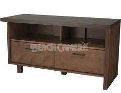 """Light and Dark Walnut Finishes A/V Stand for TVs Up To 50"""" - BFV546"""