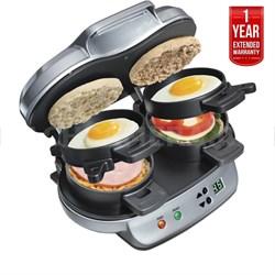 25490 Dual Breakfast Sandwich Maker + 1 Year Extended Warranty - Refurbished