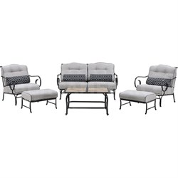 Oceana 6-Piece Seating Set with Tile-top Coffee Table - OCEANA6PC-TL-SLV