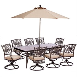 Traditions 9-Piece Dining Set in Tan - TRADDN9PCSWG-SU