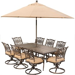 Traditions 9-Piece Dining Set in Tan - TRADDN9PCSW8-SU