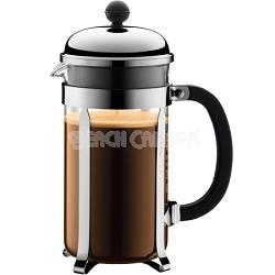 Chambord 8 cup 34 oz. French Press Coffee Maker - Chrome - OPEN BOX
