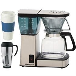 8-Cup Coffee Brewer with Glass Carafe w/ Copco Mug Bundle