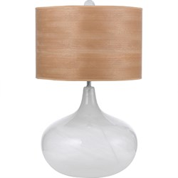 Playa Blown Glass Table Lamp 1-150 3-Way Standard Bulb 27 HX16 W