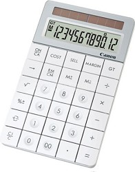 Canon X Mark I Premium White Desktop Calculator (3982B006)