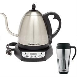 1.0L Digital Variable Temperature Gooseneck Kettle w/ Copco 24 Oz Travel Mug