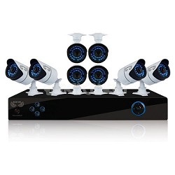 8 Channel Security System, 1TB HDD, 8 Hi-Res 900 TVL Cameras, Night Owl Pro App