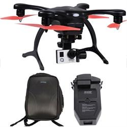 GhostDrone 2.0 Aerial Drone - Black/Orange 1 Year Crash Coverage w/Pro Bundle