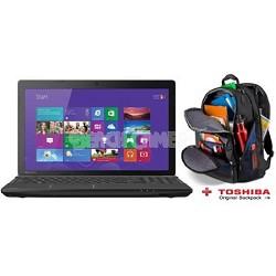"Satellite 15.6"" C55D-A5163 Notebook PC - AMD E-Series E1-2100 Process + Backpack"