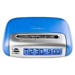 Speak n Set Touch Activated Travel Alarm Clock Blue