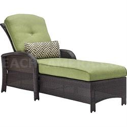 Strathmere Luxury Chaise in Cilantro Green - STRATHCHS