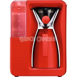 Bistro Electric Pour Over Coffeemaker - Red