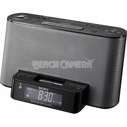 ICF-CS10IPBLK Alarm Clock Radio with Speaker Dock for iPod and iPhone