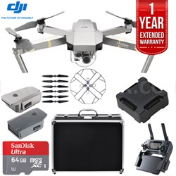 Mavic Pro Platinum Quadcopter Drone + 1 Year Extended Warranty 64GB Kit