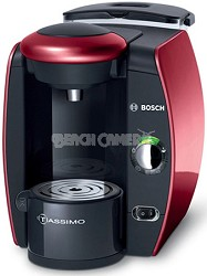 Tassimo Single Serve Coffee Brewer, Glamour Red - TAS4513UC - OPEN BOX