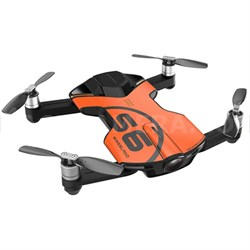 S6 Quadcopter Orange Mini Pocket Drone 4K Camera (Outdoor Edition) - OPEN BOX