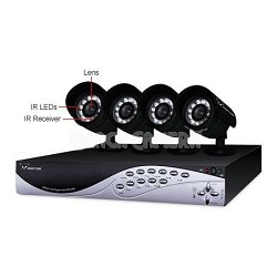 REFURBISHED 4 Channel DVR with 4 Cameras - no HDD (Tiger-4-R)