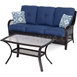 Orleans2pc Seating Set: Sofa and Coffee Table