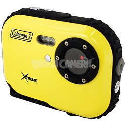 Mini Xtreme 5.0 MP Digital Video / Still Camera Anti-Shake & Waterproof (Yellow)