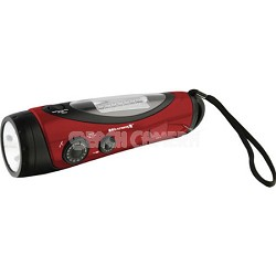 Weather Band and AM/FM Radio with Flashlight/Lantern - Red/Black