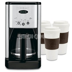 DCC-1200 Brew Central 12-Cup Coffeemaker Refurbished with 3 Copcu Reusable Mugs