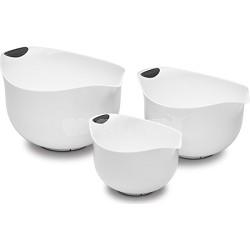 Set of 3 White BPA-free Mixing Bowls (CTG-00-3MBW)